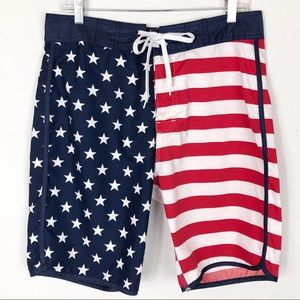 Flag Stars and Stripes Swimsuit 4th of July! M